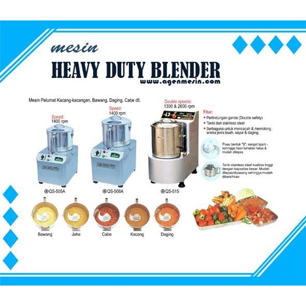 Heavy Duty Blender (Mesin pelumat Kacang-kacangan)