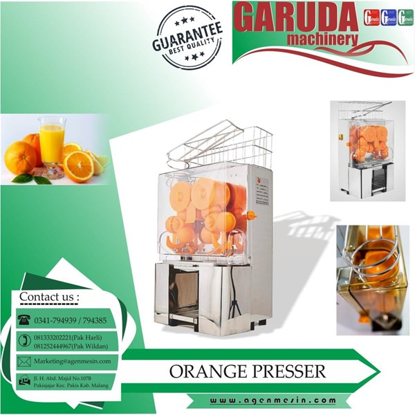 mesin press jeruk otomatis
