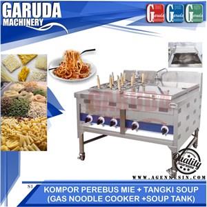 Mesin Perebus Mie dilengkapi tangki sup