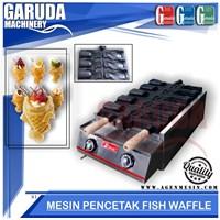 Cetak Fish Waffle Baker atau Taiyaki Mulut Terbuka