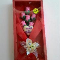 Coklat Valentine Buket Lolipop Rose & Love