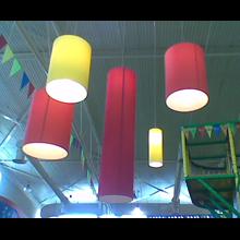 LAMPSHADE PENDANT LIGHT tubes tubes (PENDANT FIXTURES) DIAMETER 25 cm