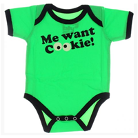 Jual BJB914-Baju Jumper Bayi Lengan Pendek M Me Want Cookies Hijau