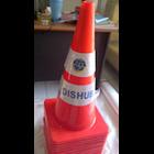 Traffic cone karet 70cm 3