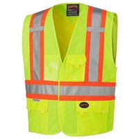 Safety Vest Polyester 4 pockets and Scotlite