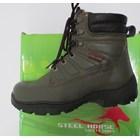 Sepatu safety Steel Horse 9369 Hijau Army 1
