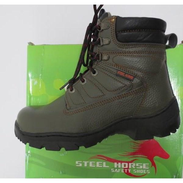 Sepatu safety Steel Horse 9369 Hijau Army