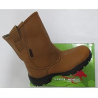 Sepatu safety Steel Horse 9599 Coklat