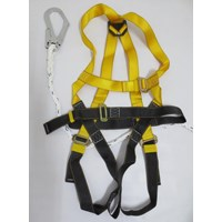 Full body harness single lanyard