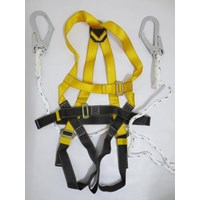 Full body harness double lanyard hook