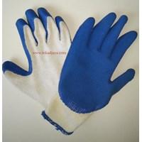 Sarung tangan safety bahan rajut lapis latex anti gores