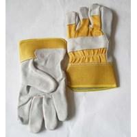 Sarung tangan safety kulit kombinasi jeans import