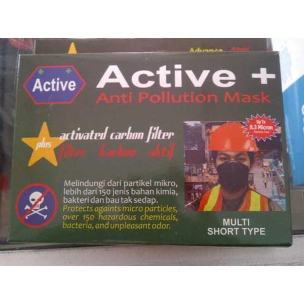 Masker pernapasan aktif karbon anti polusi