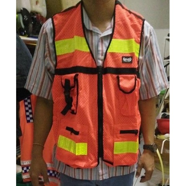 Safety vest Asgard with 4 packs