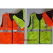 Pakaian Safety Rompi parasut tebal 2 kantong