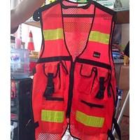 Pakaian safety Rompi Asgard bahan jala 6 kantong
