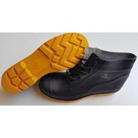 Sepatu safety Boot pendek tali 1