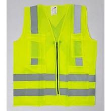 Pakaian safety vest Rompi Parasut Kantong Risleting