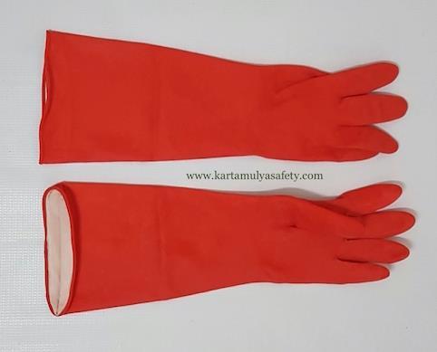 Jual Sarung Tangan Safety Karet Kimia Panjang 45cm Harga