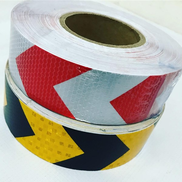 Sticker Reflektif Barricade Tape