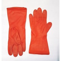 Sarung tangan safety karet orange