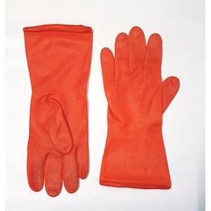 Sarung tangan safety karet orange