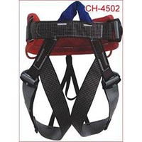Body harness for climbing flying fox