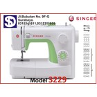 Singer sewing machine Type 3229 1