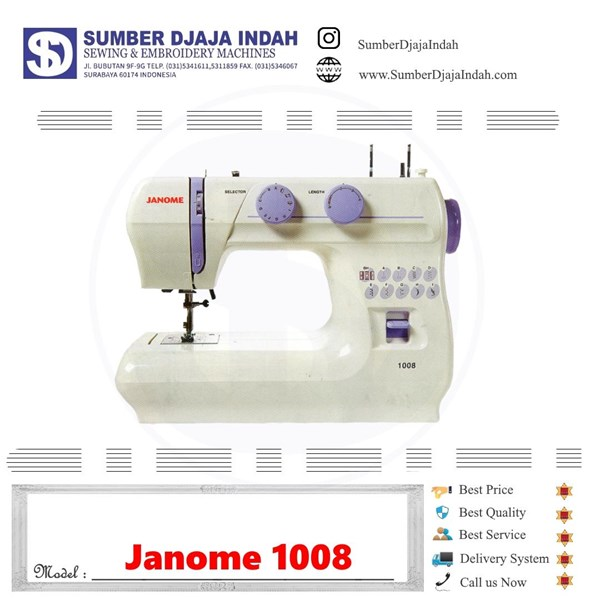 Mesin Jahit portable Janome 1008