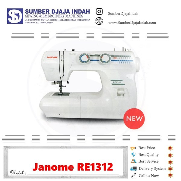 Mesin Jahit Portable Janome RE1312