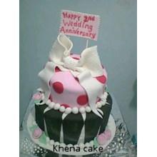 kue anniversary fondant