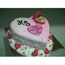 kue bentuk hati