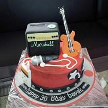 kue ultah musik