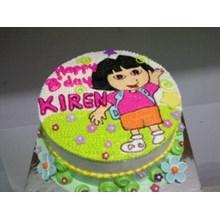 kue ulang tahun dora