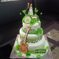 kue wedding gitar