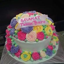 Kue Ulang Tahun Bunga-Bunga