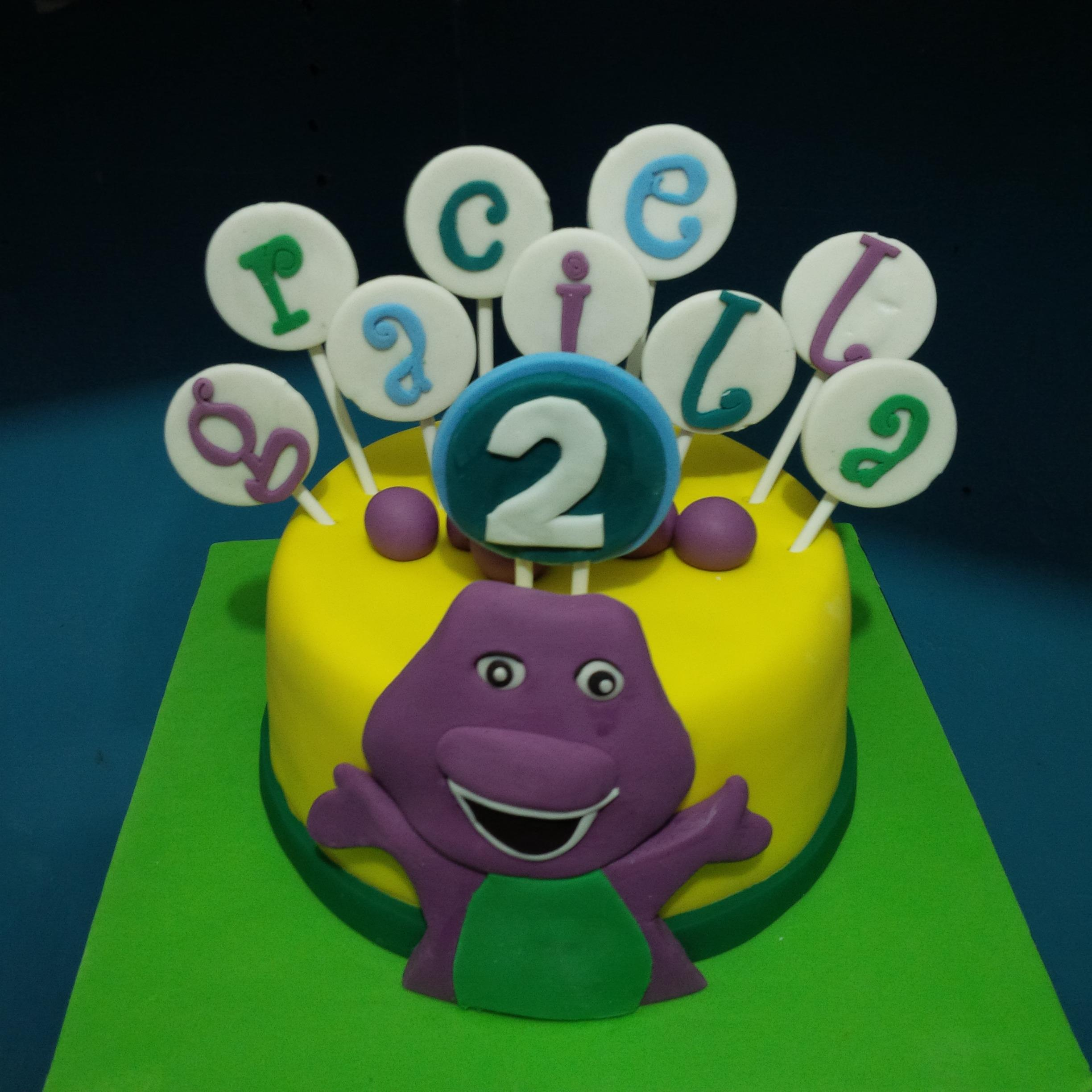 Sell barney birthday cake is funny from Indonesia by Khena Cake