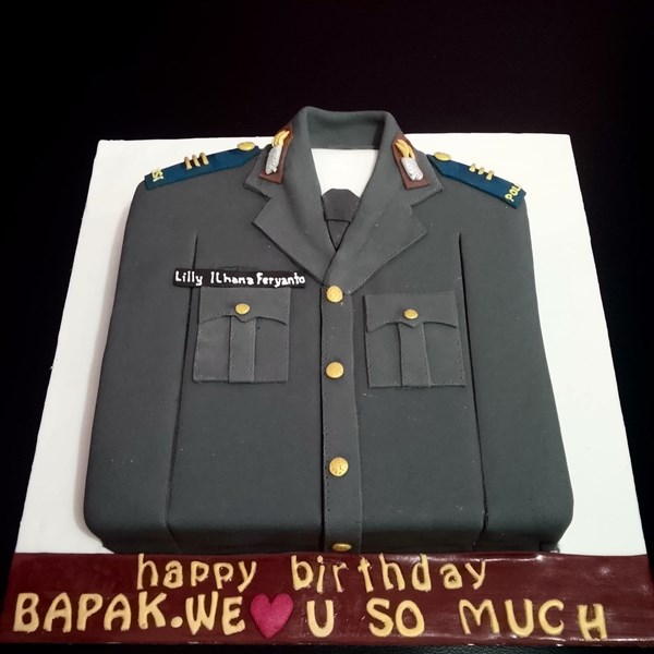Police dress cake