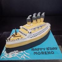 Jual kue bentuk kapal