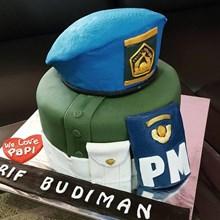 cake baju polisi