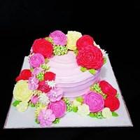 kue bunga cantik