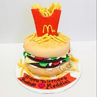 Kue bentuk burger