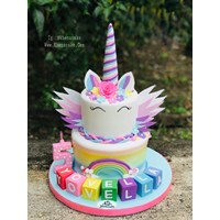 Wings unicorn cake