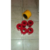 Jual karet polyurethane - Repair karet roda pu (polyurethane) - repair roller karet pu - repair karet roda pu - roda forklif - roda hand pallet - roda rollcoaster - roda trolly - dll