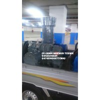 Distributor Blower motor Futsu root blower / roots blower TSB 50 -TSB 65 - TSC 80 - TSC 100 -TSD 125 terkopel complete With motor base plate 3