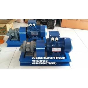 Dari Gear Pump Oriental Koshin GL 20-5 terkopel motor 1 Hp 2