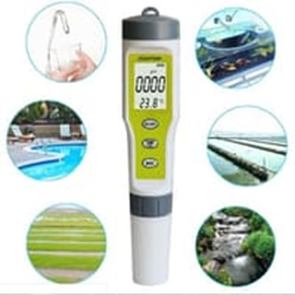 PH EC Temperature Meter EZ Tester ATC EZ Waterproof Temp Suhu Alat Laboratorium Air
