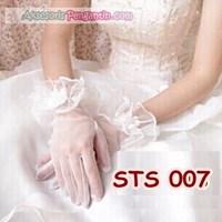 Jual Sarung Tangan Pengantin Full l Aksesoris Wedding Wanita - STS 007