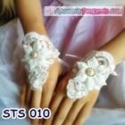 Sarung Tangan Wedding Modern l Fingerless Brokat Pengantin - STS 010 1