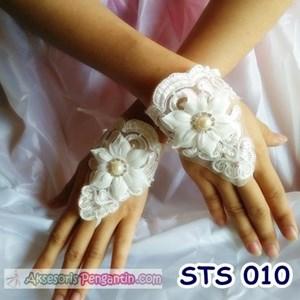 Sarung Tangan Wedding Modern l Fingerless Brokat Pengantin - STS 010